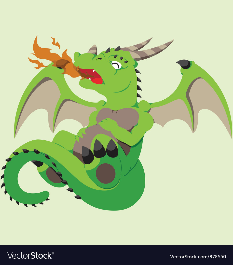Cute baby dragon vector | Price: 1 Credit (USD $1)