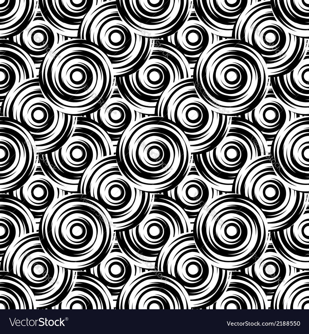 Design seamless monochrome circle pattern vector | Price: 1 Credit (USD $1)