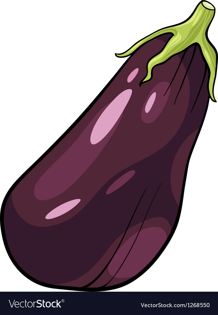 Eggplant vegetable cartoon vector | Price: 1 Credit (USD $1)