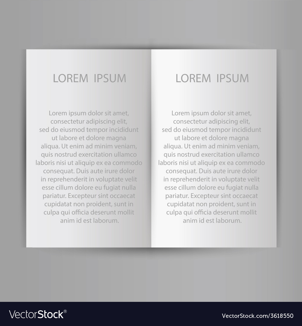 Folded sheet of paper blank brochure template vector | Price: 1 Credit (USD $1)