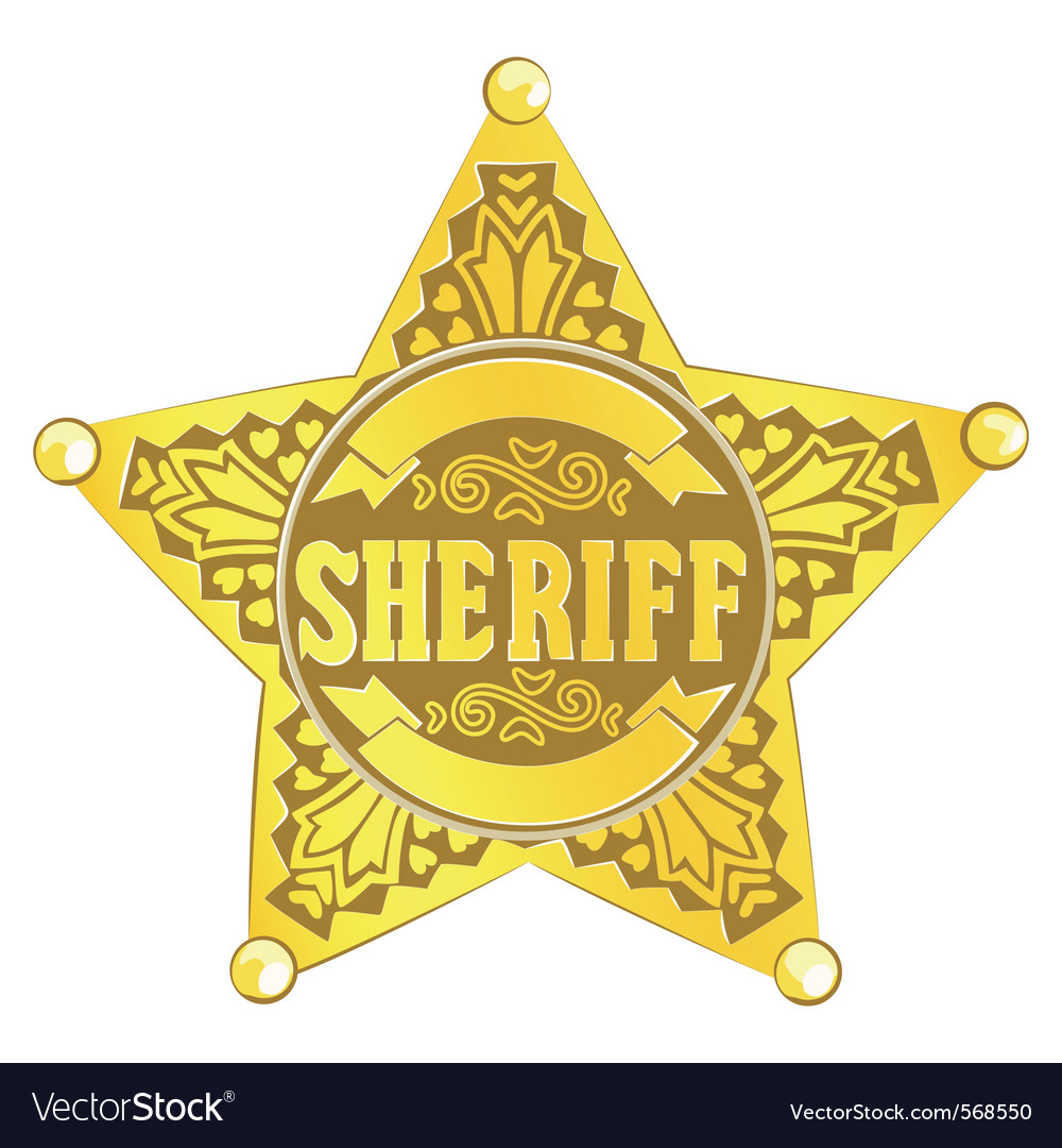 Sheriff star vector | Price: 1 Credit (USD $1)