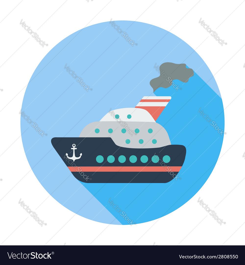 Ship flat icon vector | Price: 1 Credit (USD $1)