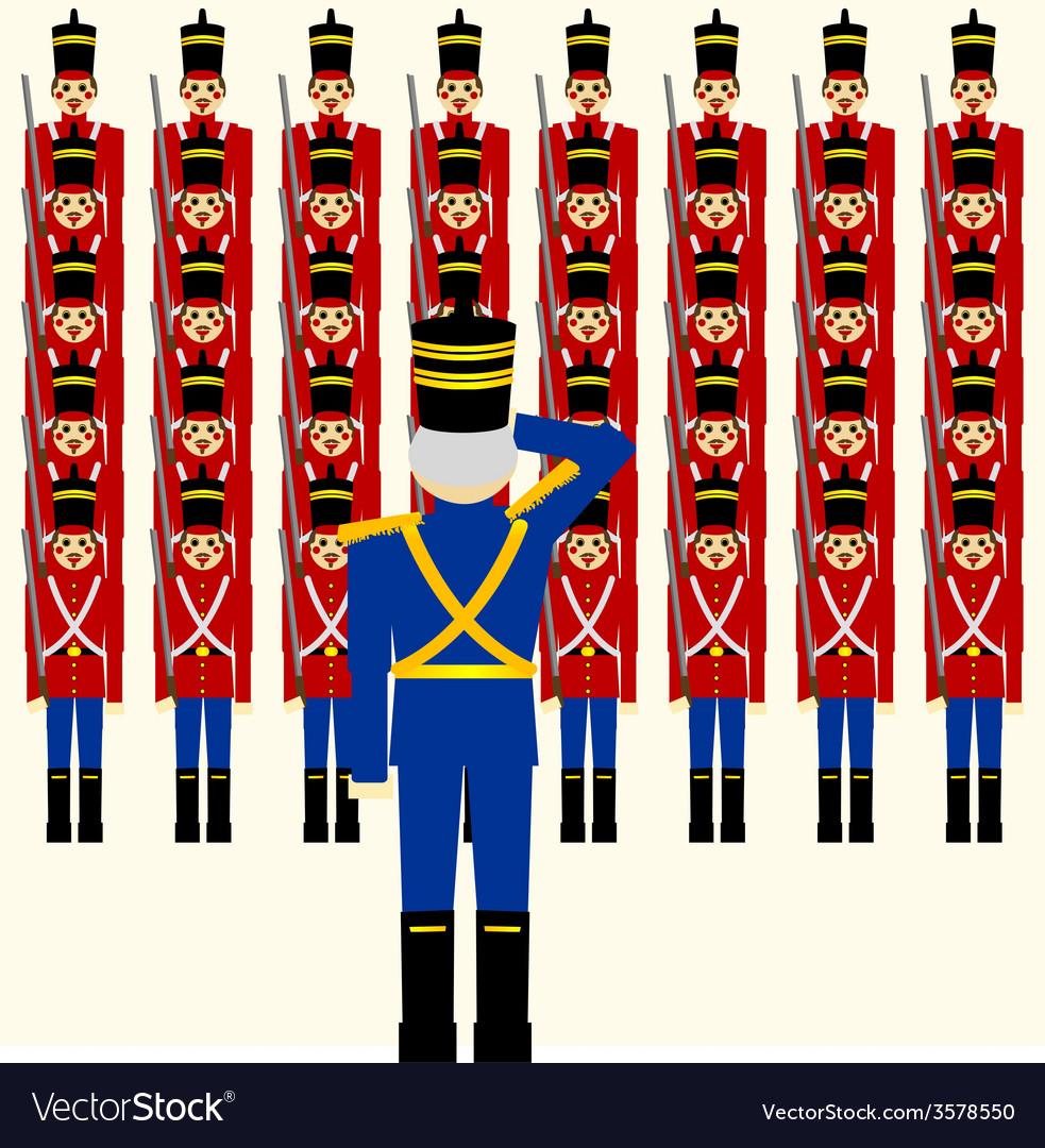 Wooden soldiers army vector | Price: 1 Credit (USD $1)
