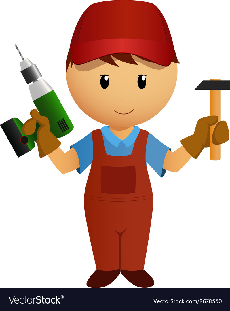 Worker drill vector | Price: 1 Credit (USD $1)