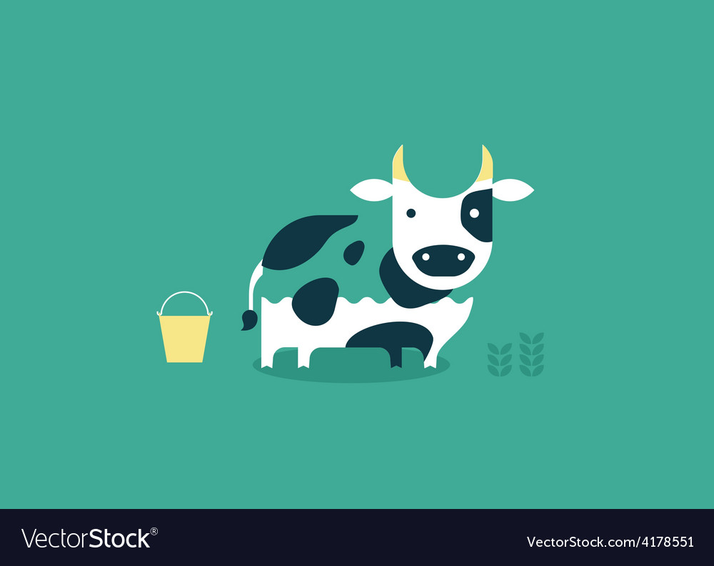 Cow icon vector | Price: 1 Credit (USD $1)