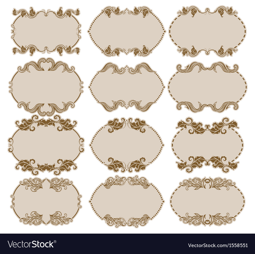 Decorative frame vector   Price: 1 Credit (USD $1)