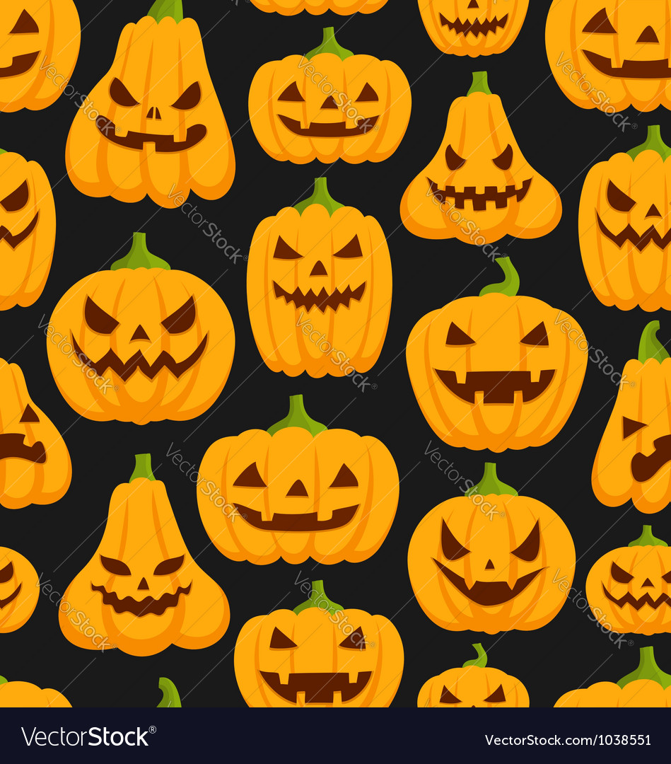 Pumpkin pattern vector | Price: 1 Credit (USD $1)