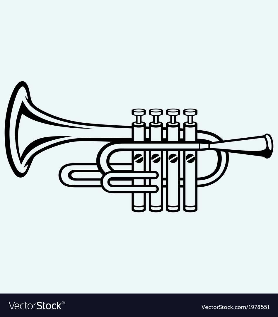 Trumpet musical instrument vector | Price: 1 Credit (USD $1)