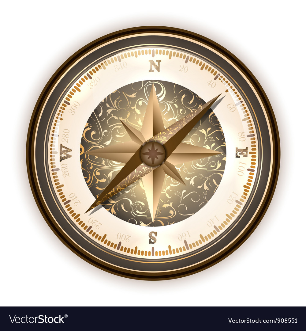 Vintage antique compass vector | Price: 1 Credit (USD $1)