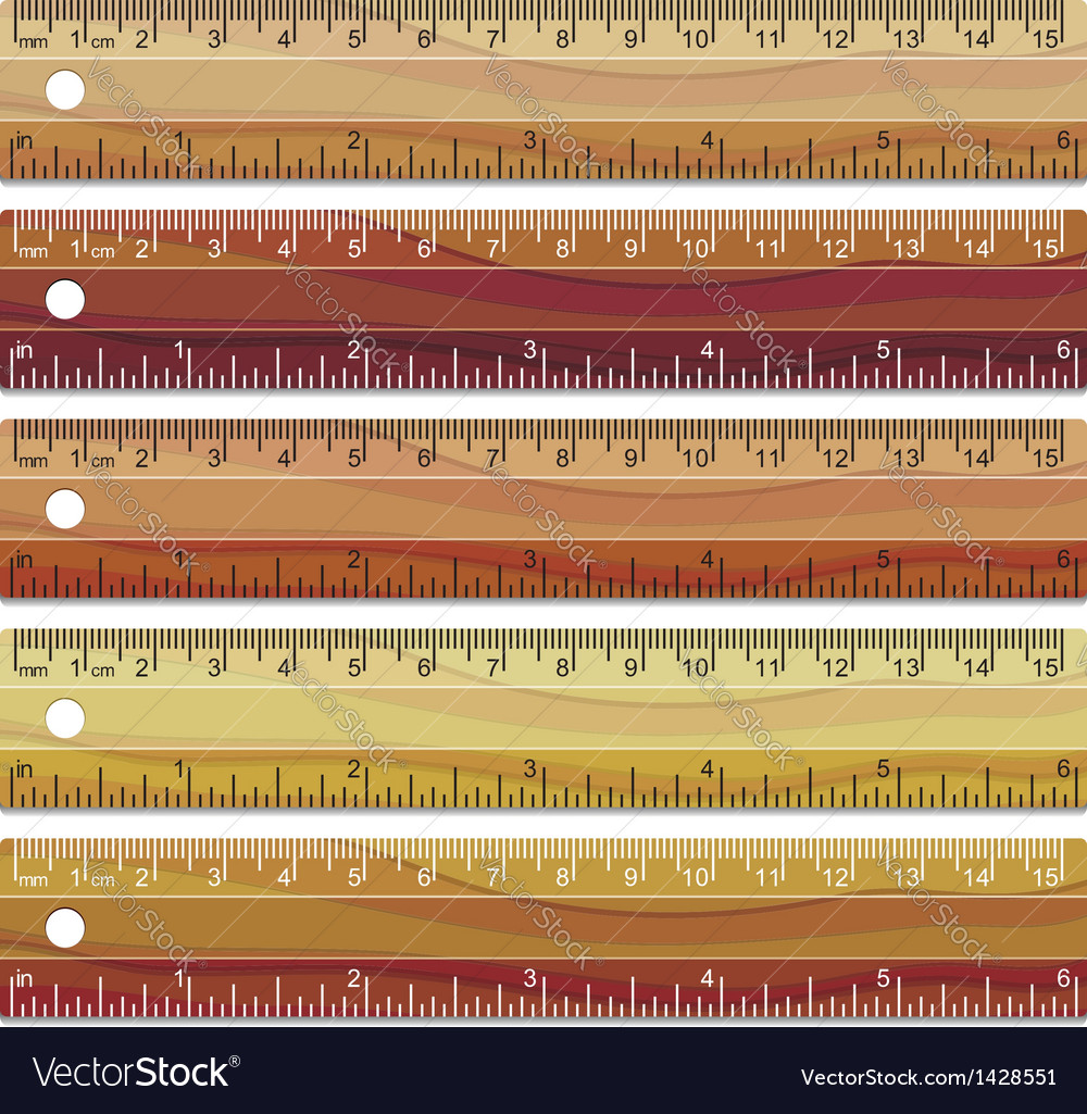 Wooden rulers vector | Price: 1 Credit (USD $1)