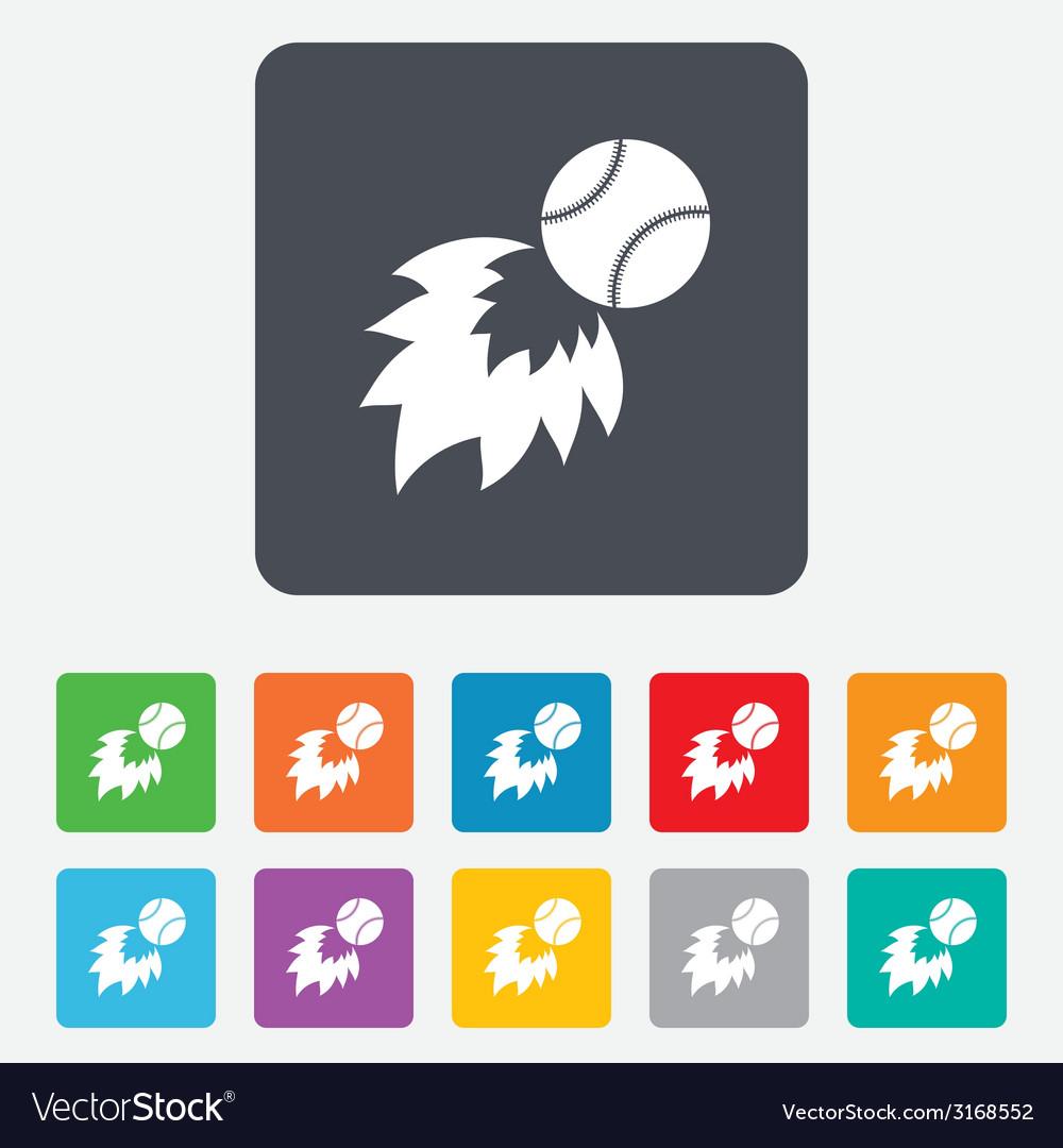 Baseball fireball sign icon sport symbol vector | Price: 1 Credit (USD $1)