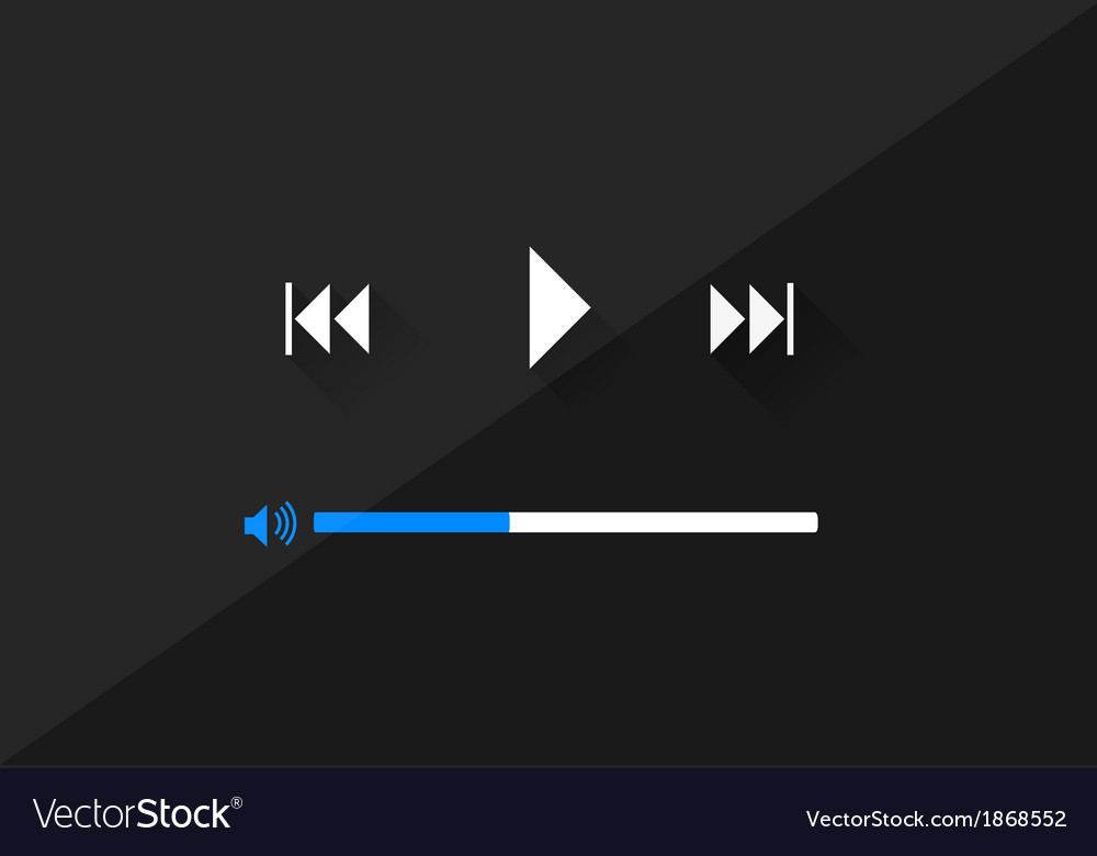 Flat player application in stylish colors vector | Price: 1 Credit (USD $1)
