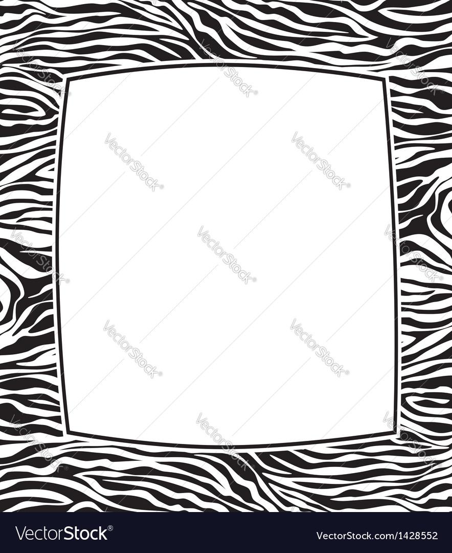 Frame with zebra skin texture vector | Price: 1 Credit (USD $1)