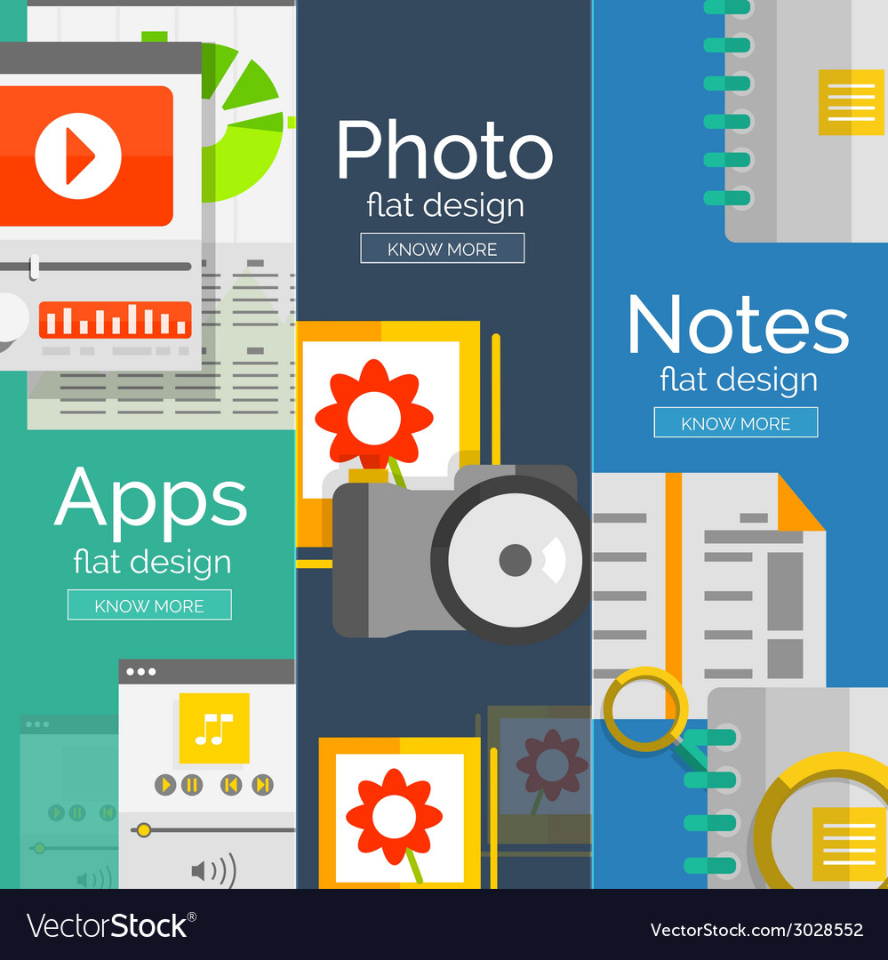 Set of flat design mobility concepts vector | Price: 1 Credit (USD $1)