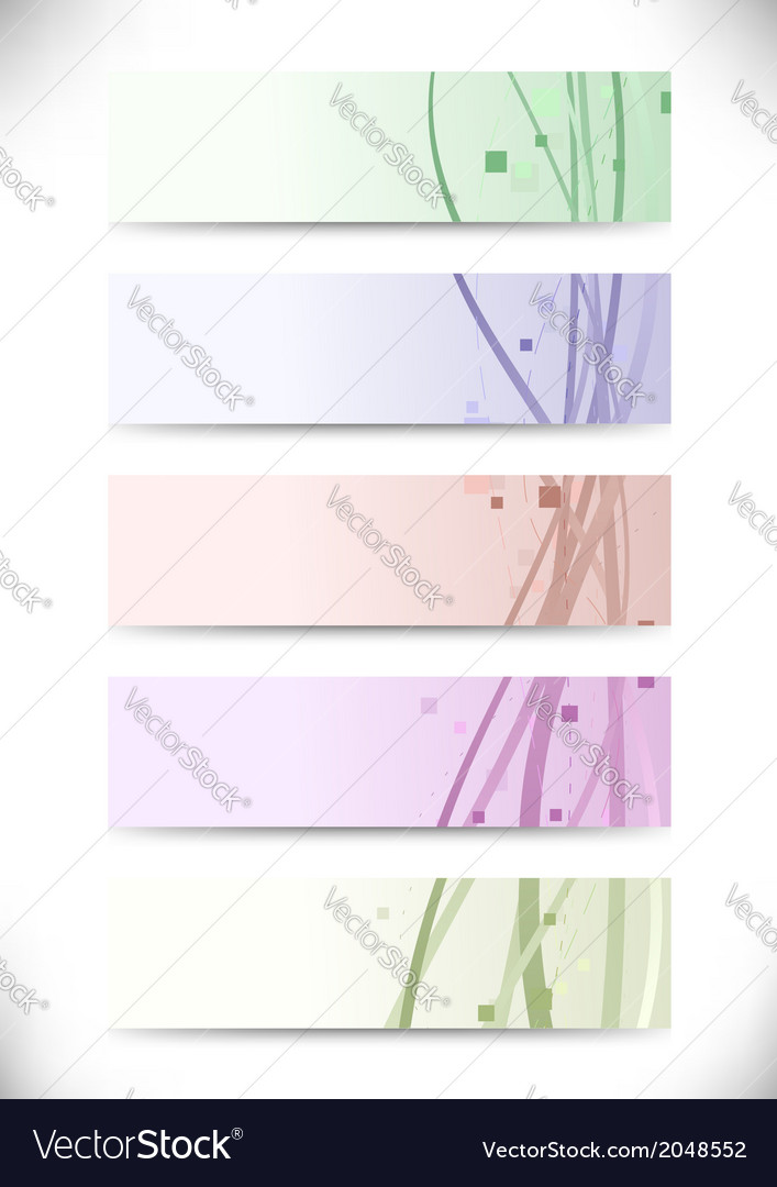 Swoosh and geometry business cards set vector | Price: 1 Credit (USD $1)