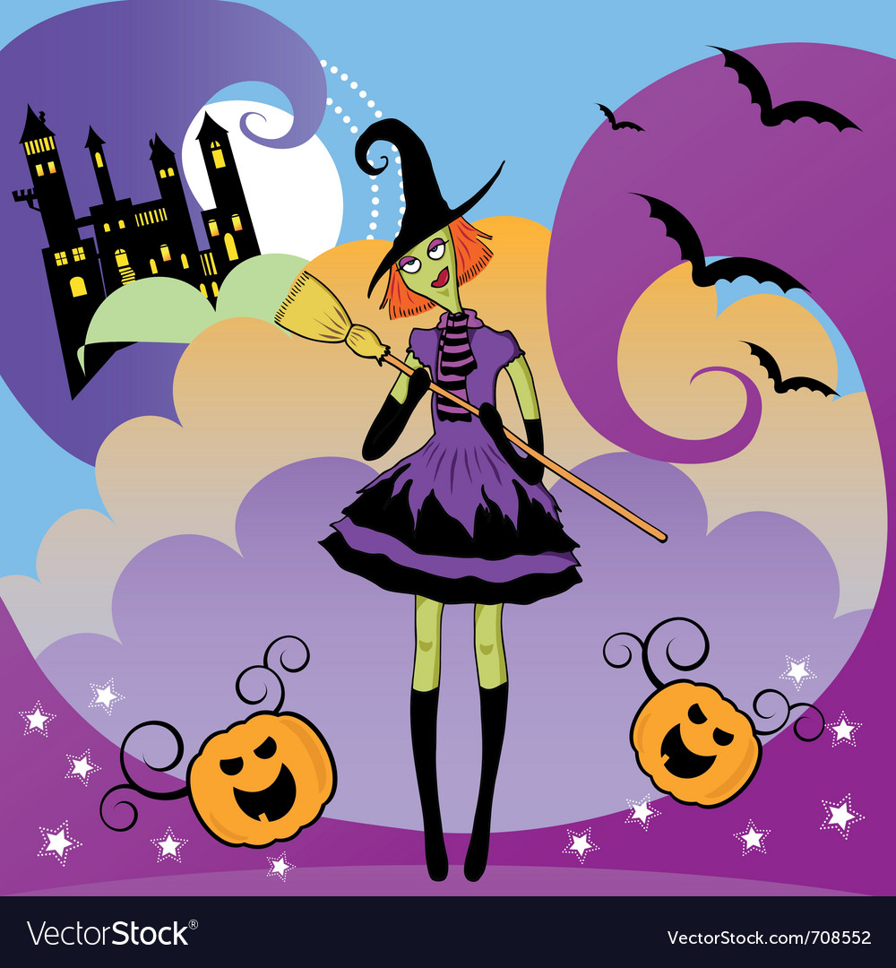 Witch party vector | Price: 1 Credit (USD $1)