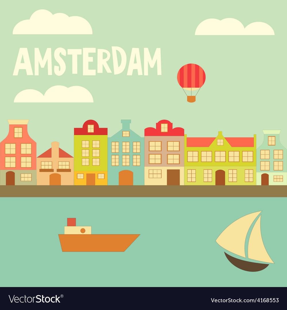 Amsterdam vector   Price: 1 Credit (USD $1)