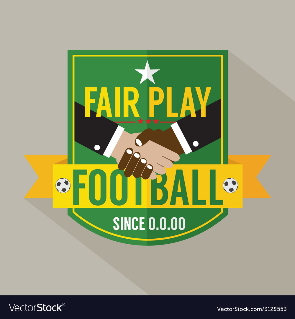 Fair play badge label vector | Price: 1 Credit (USD $1)