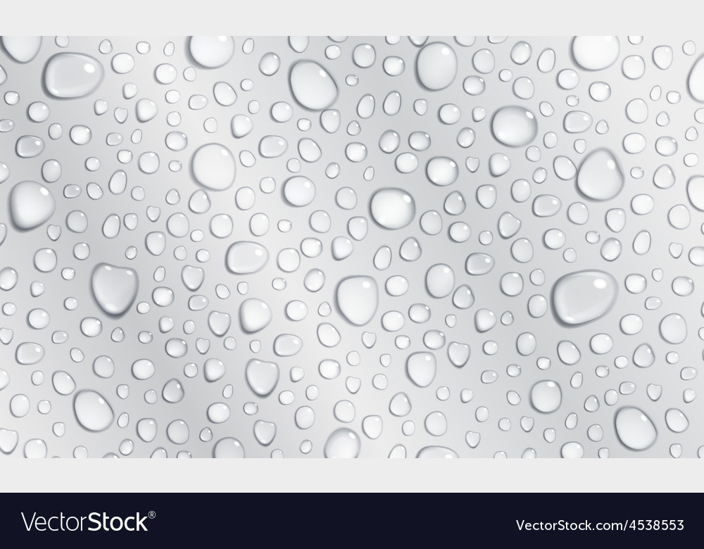 Gray background of water drops vector | Price: 1 Credit (USD $1)