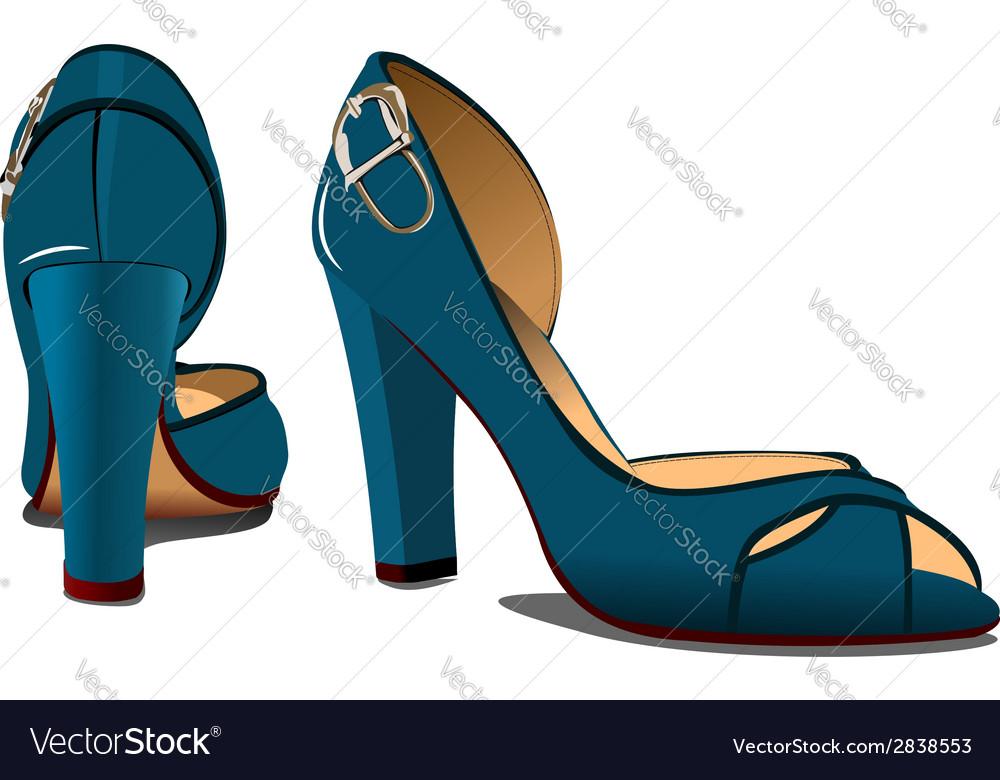 M0302 shoe 02 vector