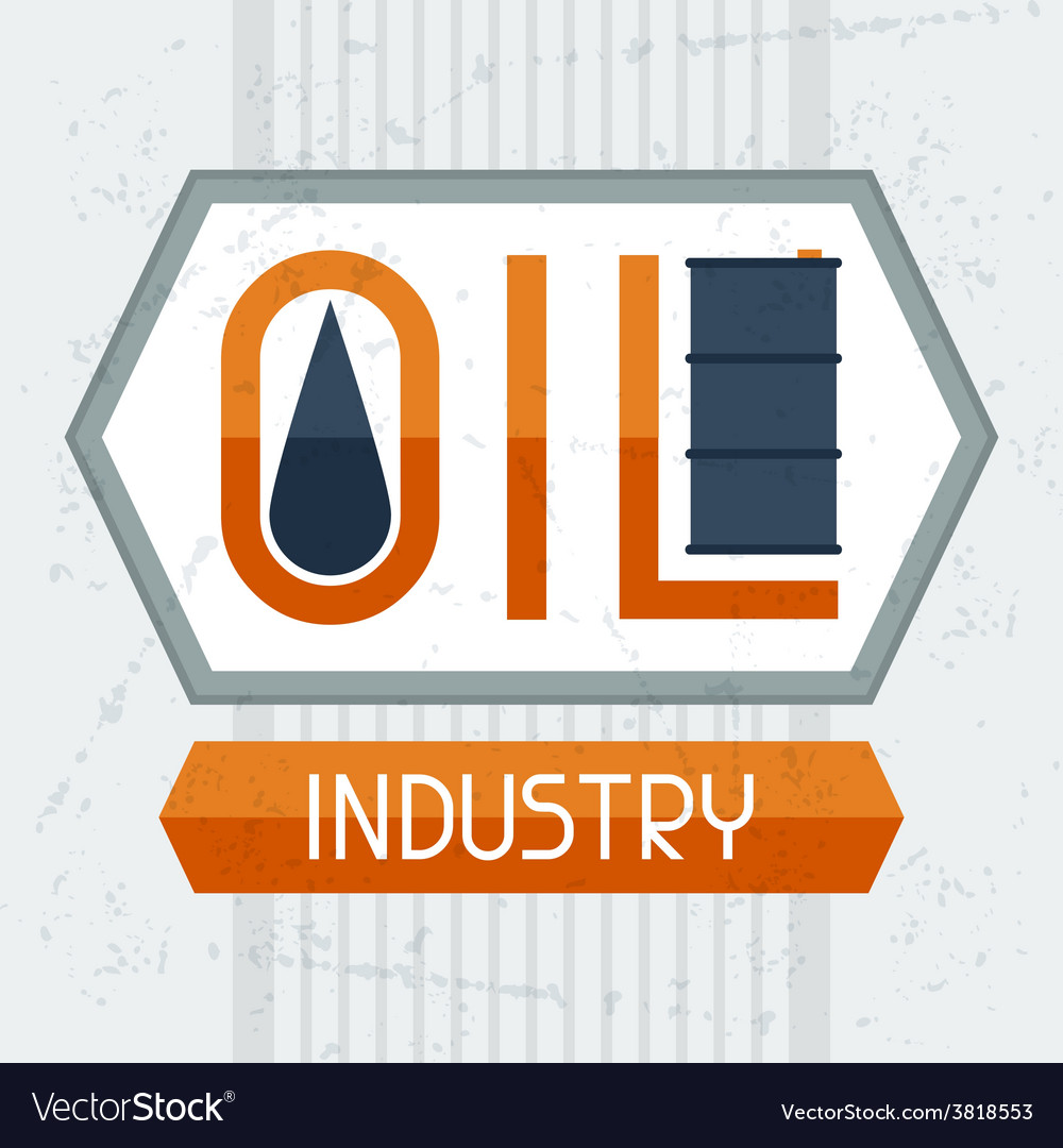 Oil industry background vector | Price: 1 Credit (USD $1)