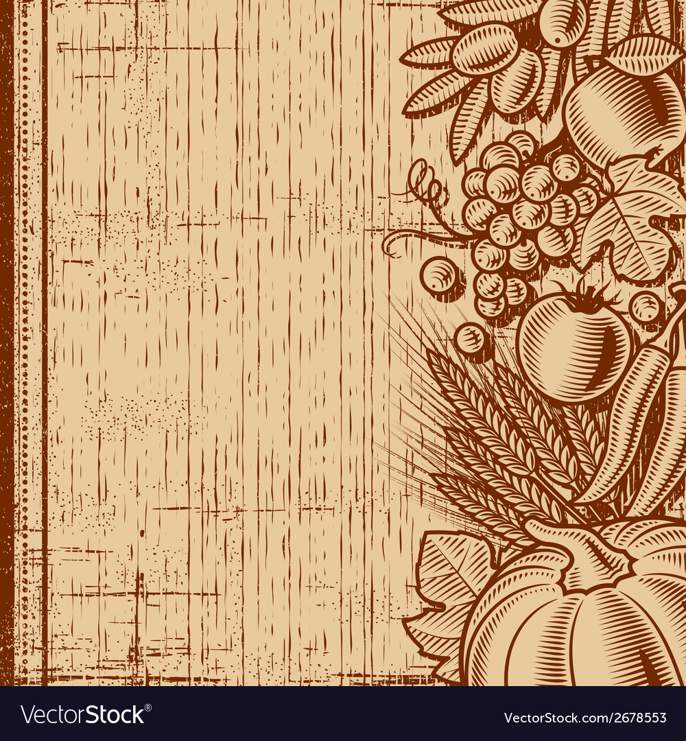 Retro harvest background brown vector | Price: 1 Credit (USD $1)