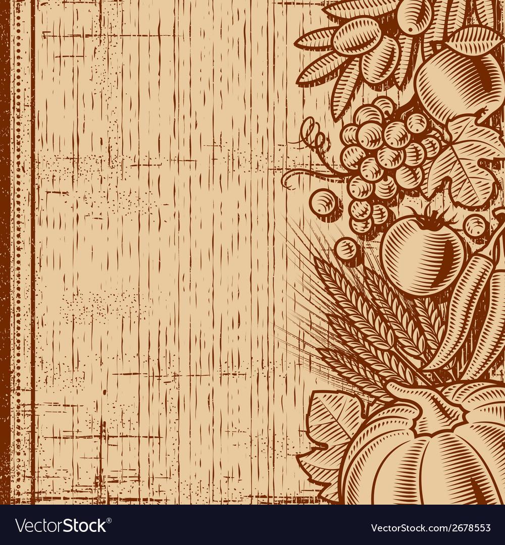 Retro harvest background brown vector | Price: 1 Credit (USD $1)