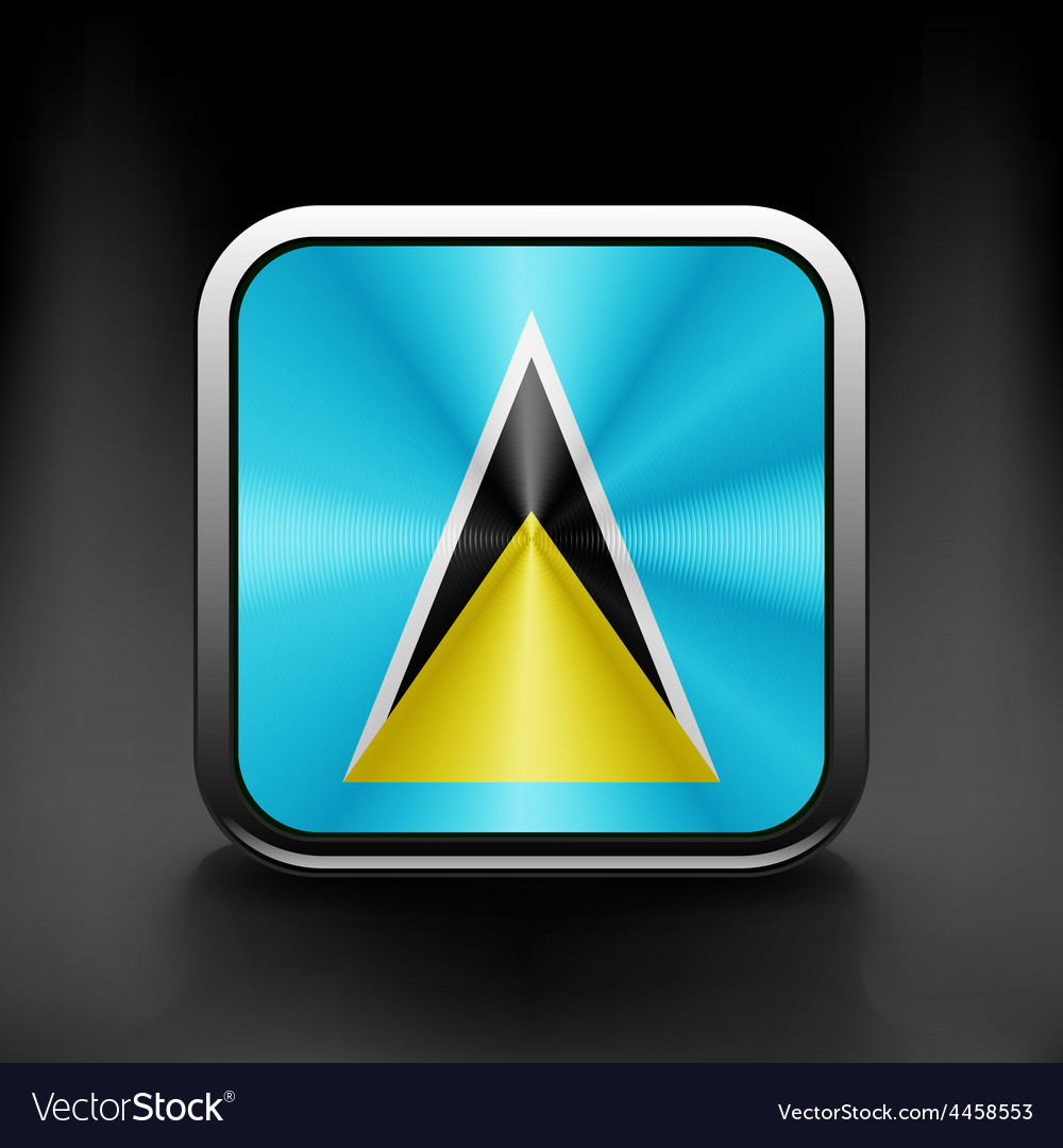 Saint lucia flag waving form on gray background vector | Price: 1 Credit (USD $1)
