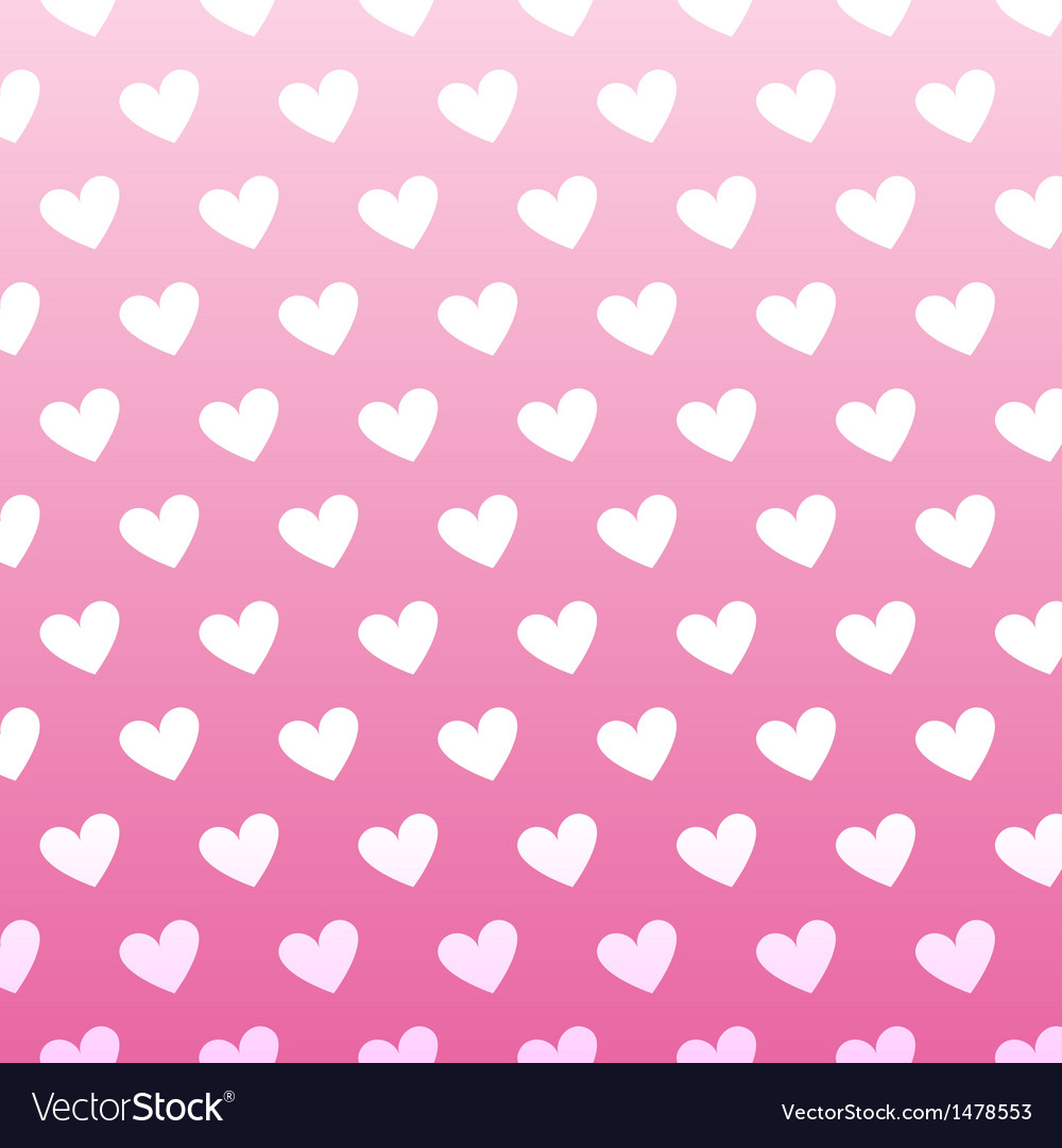 Seamless vintage white heart pattern on pink vector | Price: 1 Credit (USD $1)