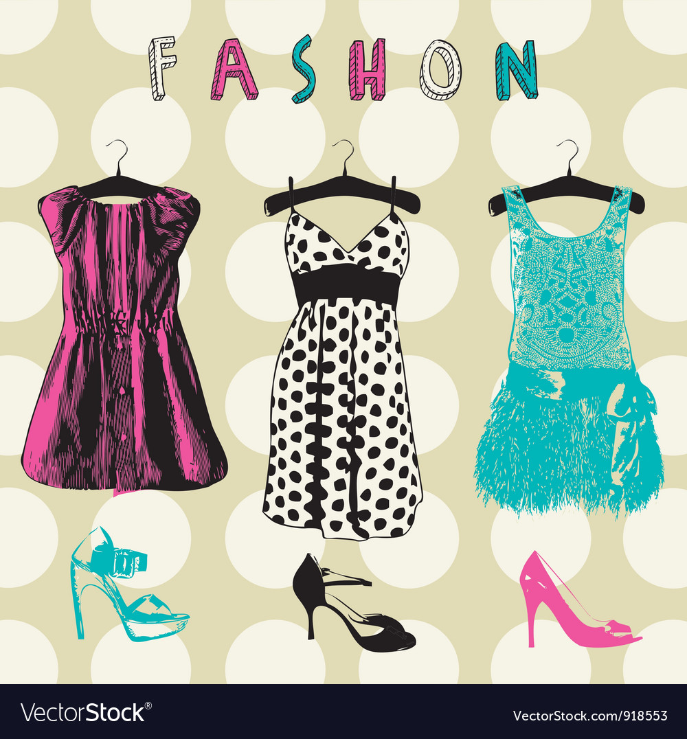 Vintage fashion pattern background vector | Price: 1 Credit (USD $1)