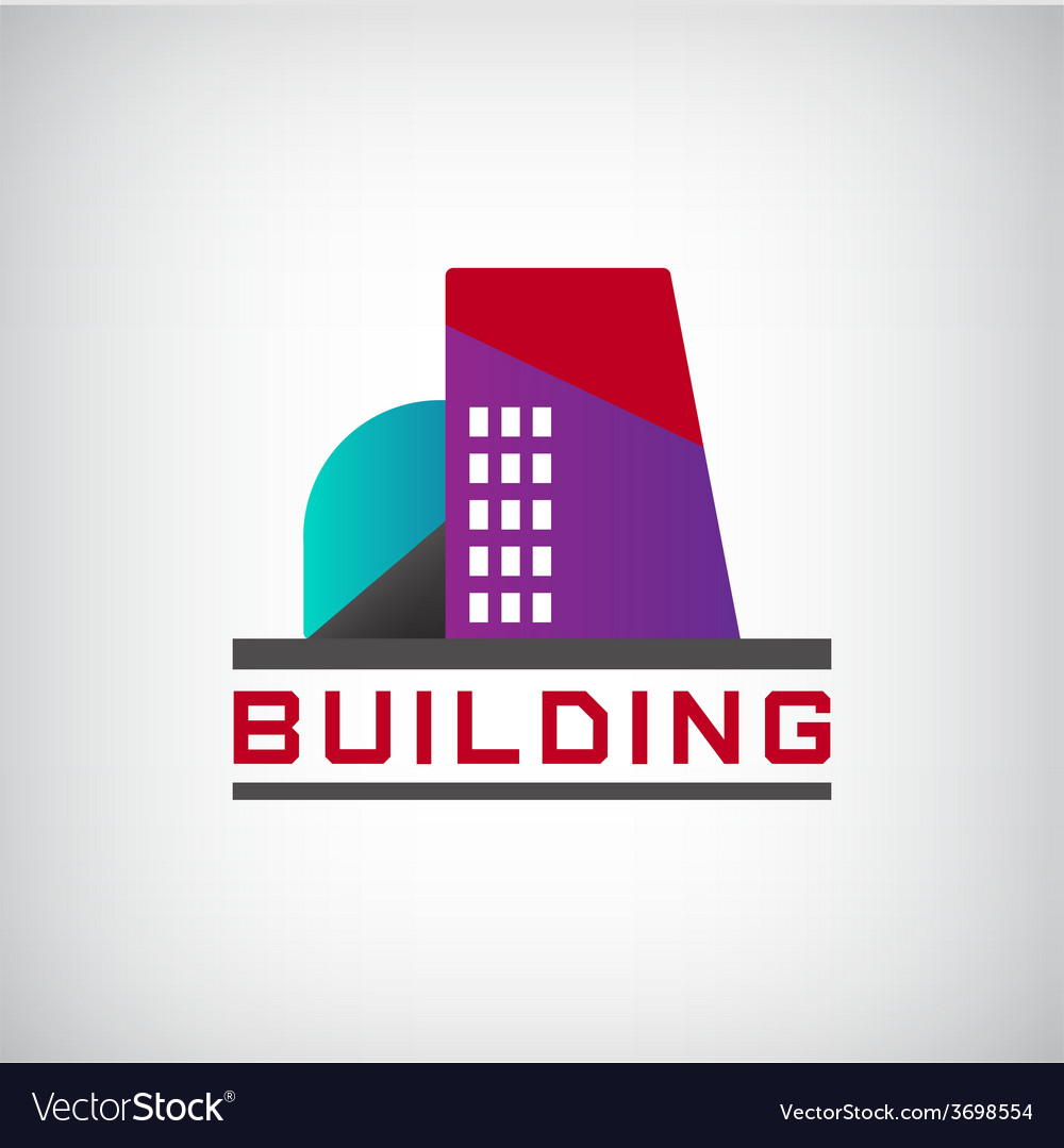 Building logo colorful construction vector | Price: 1 Credit (USD $1)