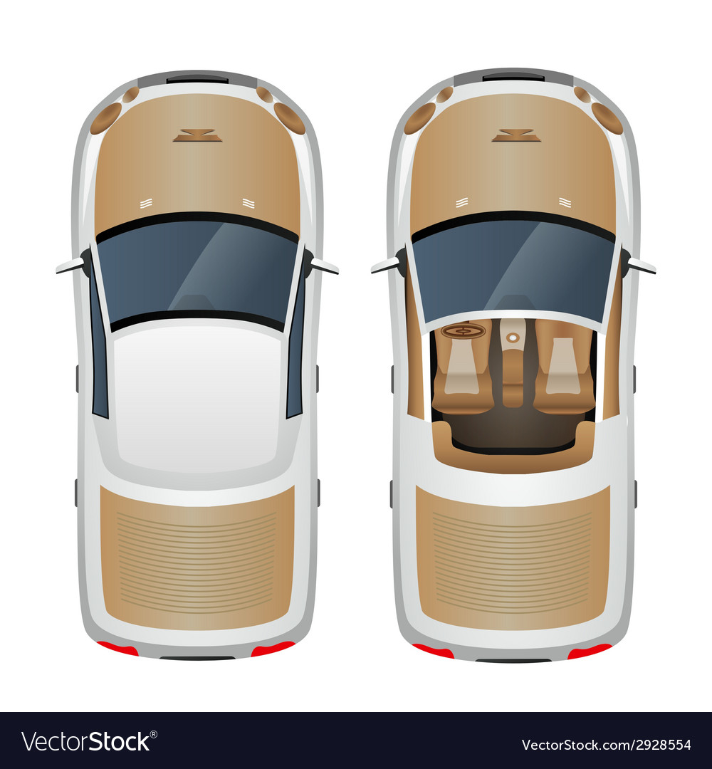 Car top view vector | Price: 1 Credit (USD $1)