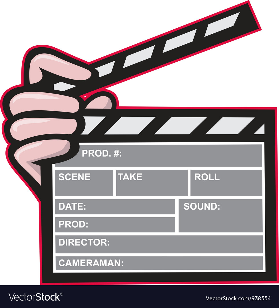 Clapboard clapperboard clapper front vector | Price: 1 Credit (USD $1)