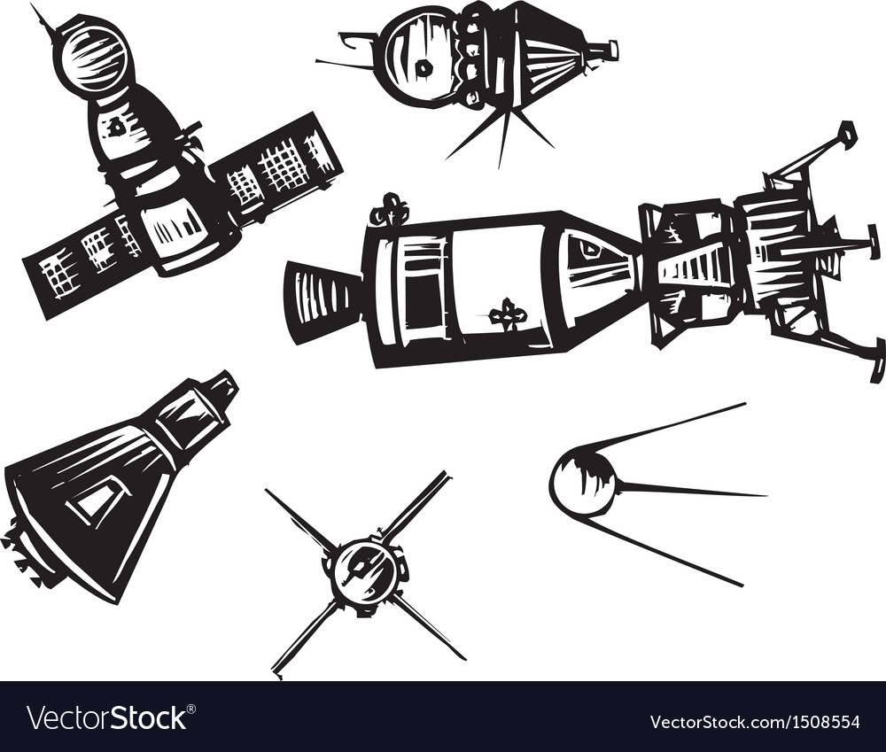 Historical spaceships vector | Price: 1 Credit (USD $1)