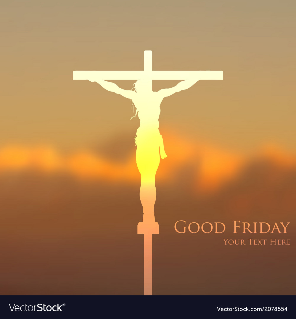 Jesus christ crucifixion on good friday vector | Price: 1 Credit (USD $1)