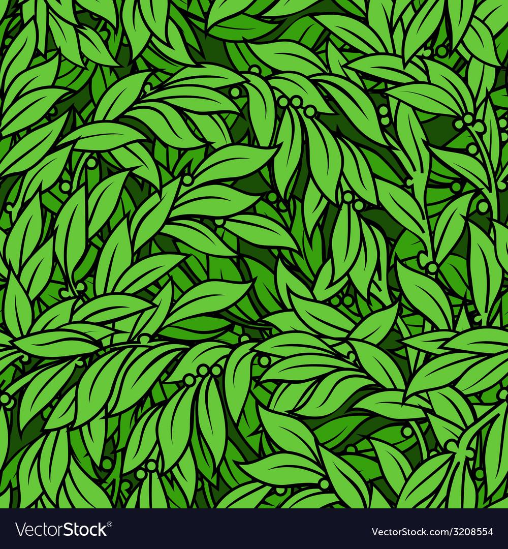 Laurel seamless background vector | Price: 1 Credit (USD $1)