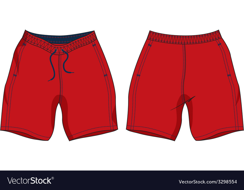 Men swim shorts template vector | Price: 1 Credit (USD $1)