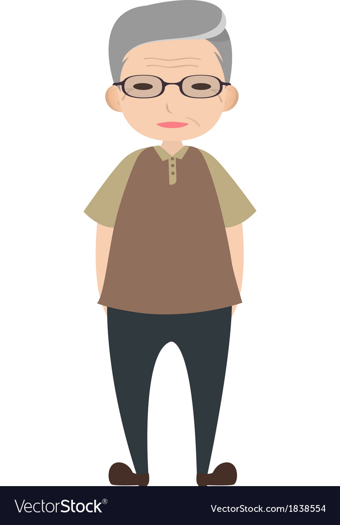 Old man character vector | Price: 1 Credit (USD $1)