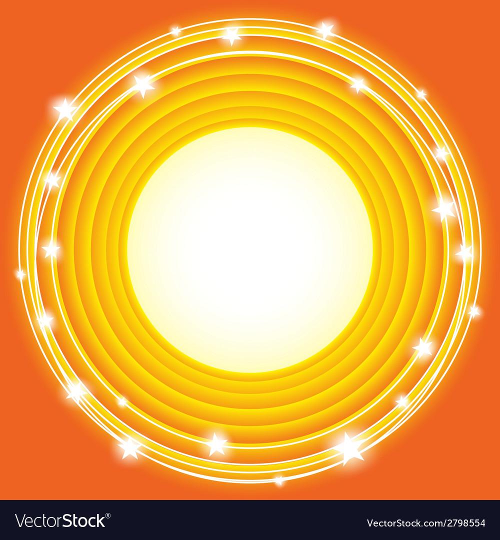 Orange stars background vector | Price: 1 Credit (USD $1)