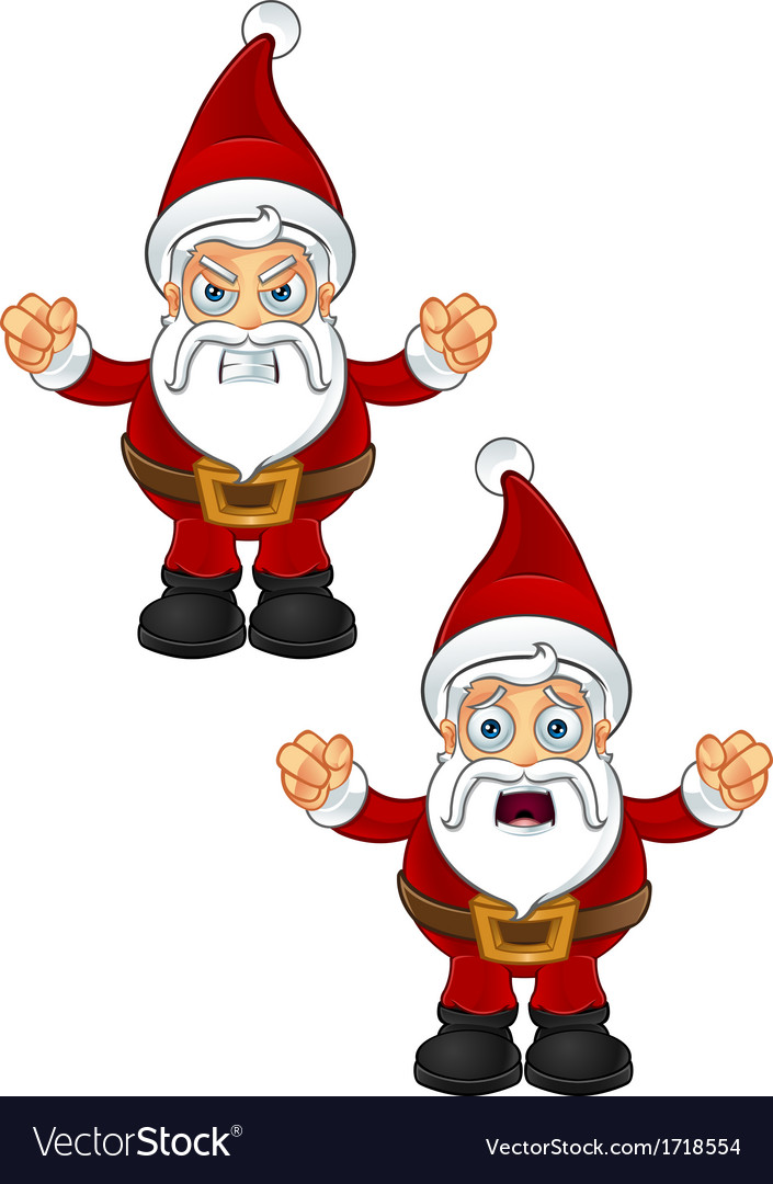 Santa claus unhappy vector | Price: 1 Credit (USD $1)