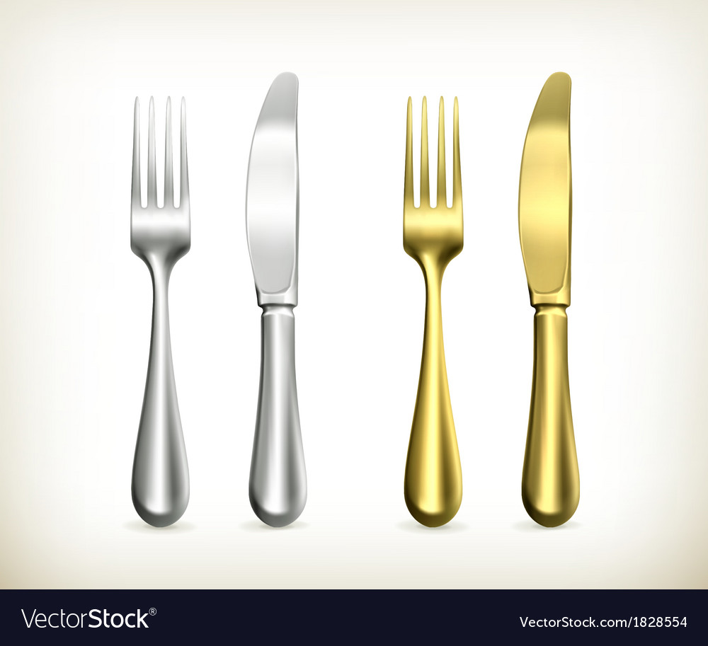 Table knife and fork vector | Price: 1 Credit (USD $1)
