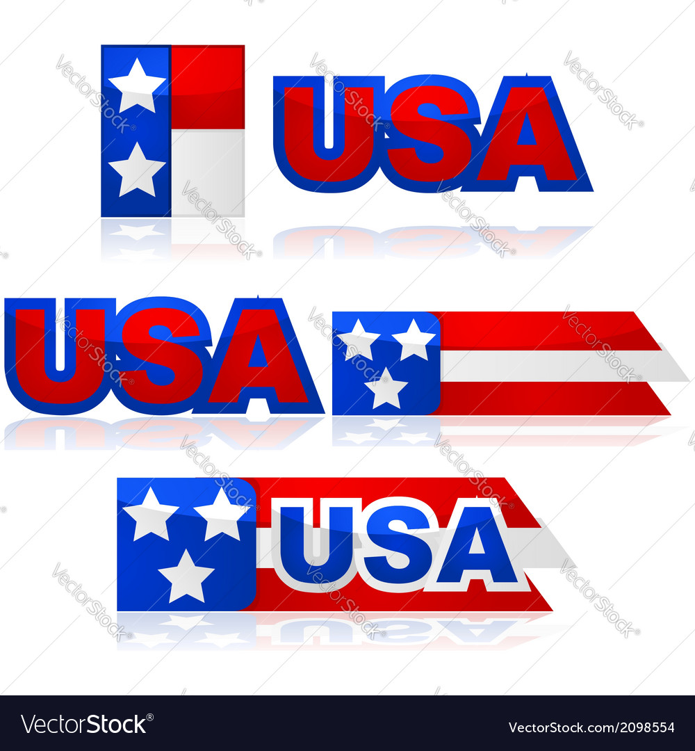 Usa badges vector | Price: 1 Credit (USD $1)