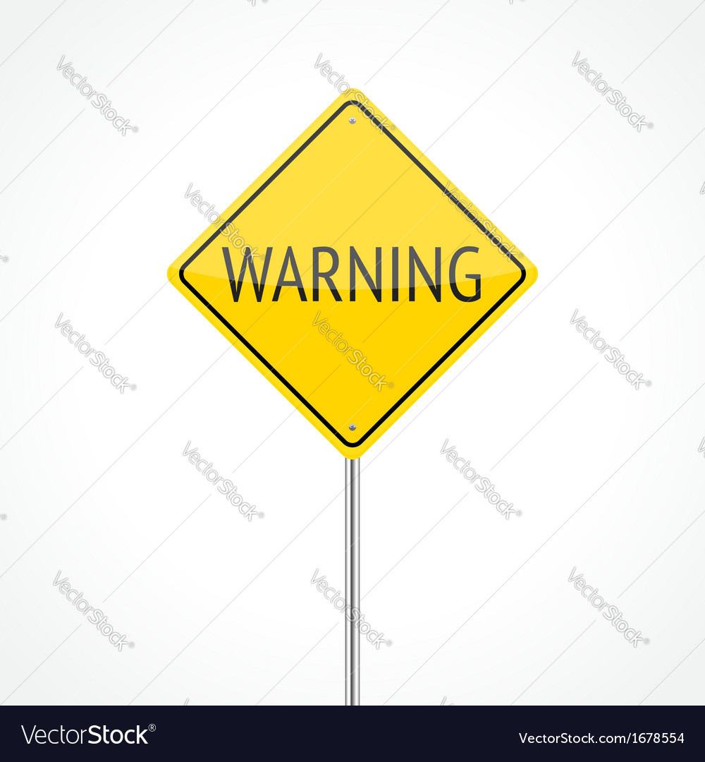 Warning traffic sign vector | Price: 1 Credit (USD $1)