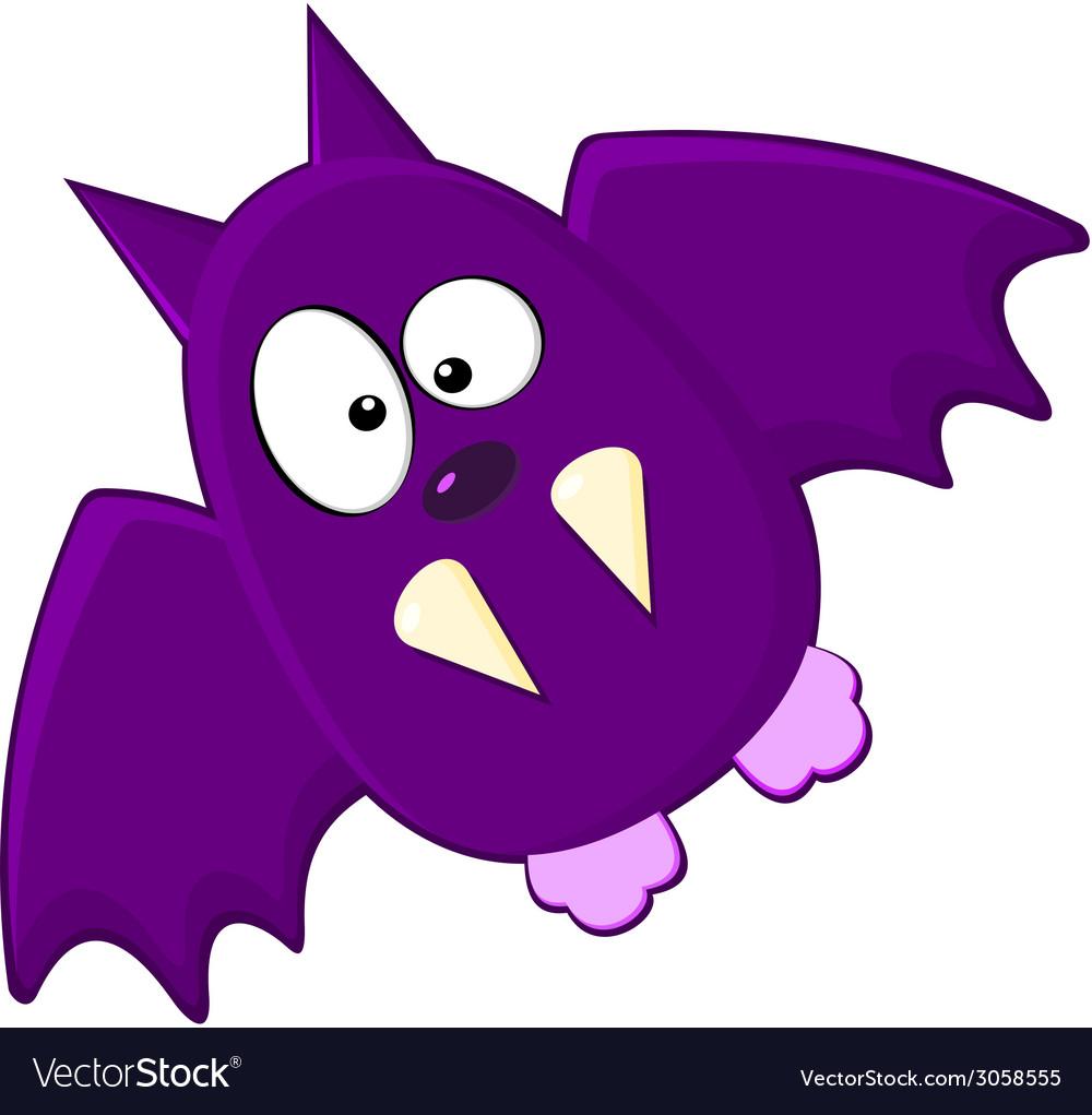 Cartton of purple bat vector | Price: 1 Credit (USD $1)