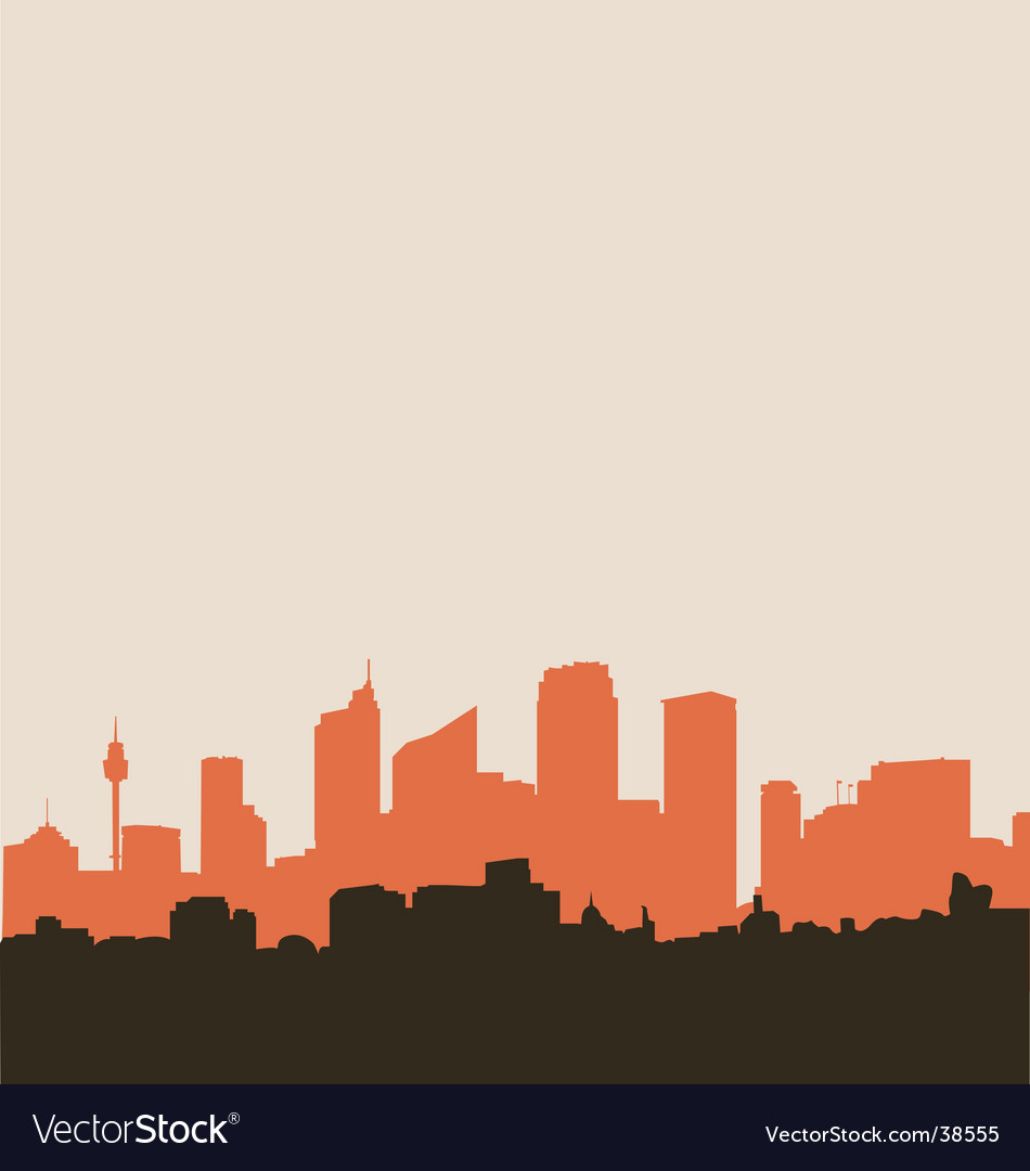City skyline silhouette vector | Price: 1 Credit (USD $1)