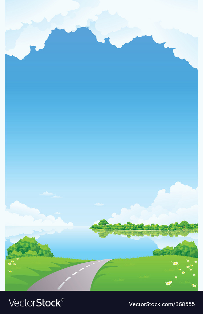 Fresh landscape vector | Price: 1 Credit (USD $1)