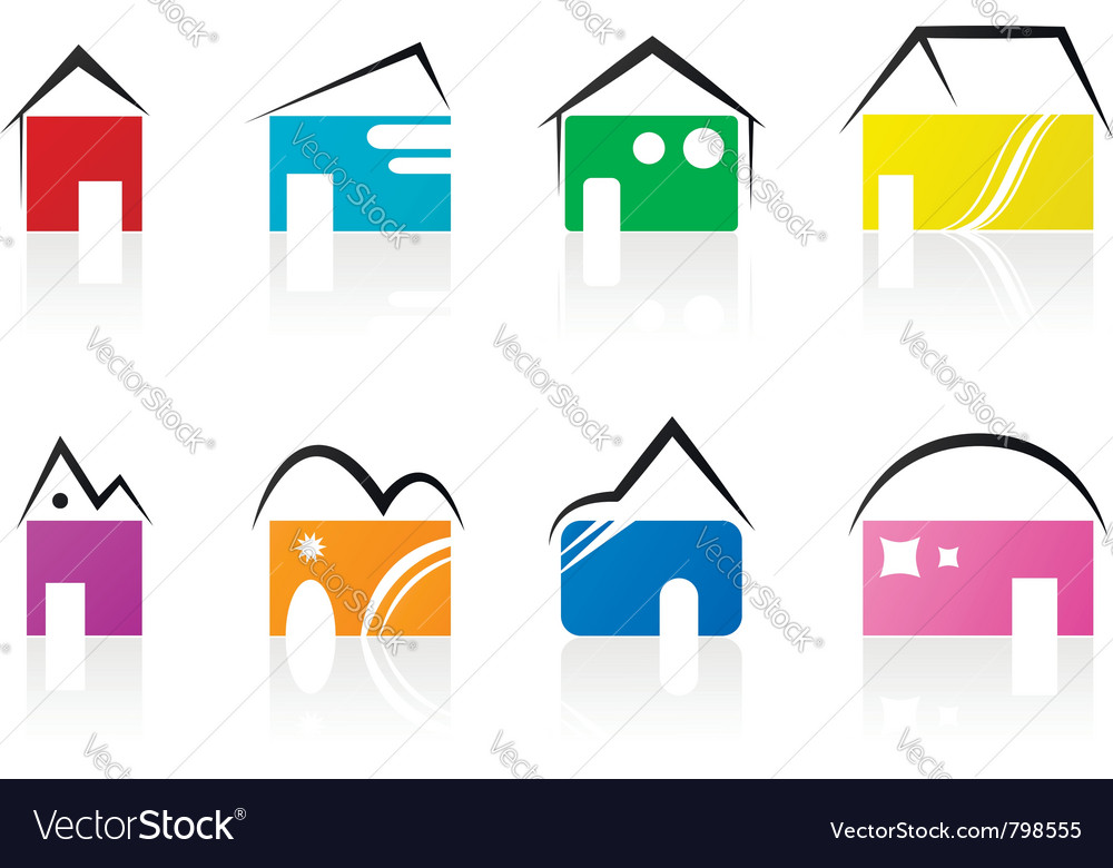 House icons vector | Price: 1 Credit (USD $1)