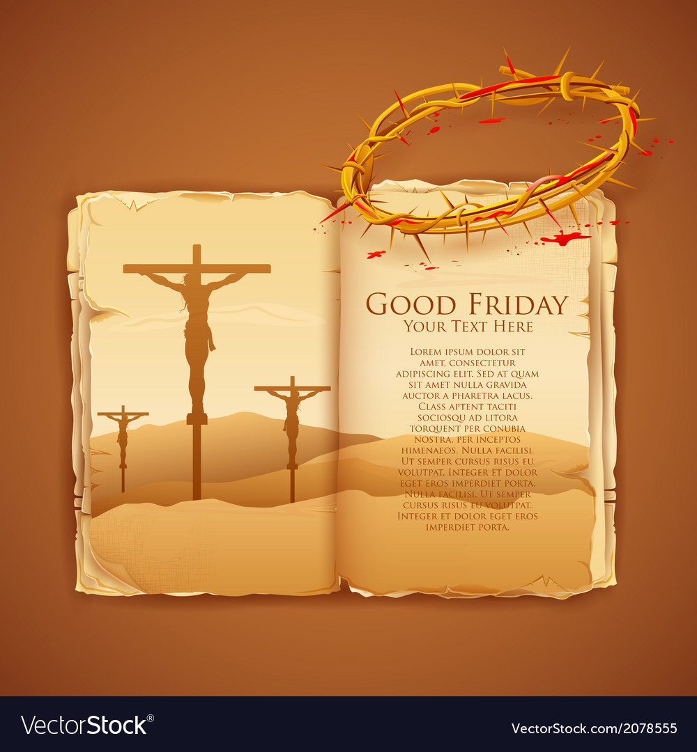 Jesus christ on cross on good friday bible vector | Price: 1 Credit (USD $1)