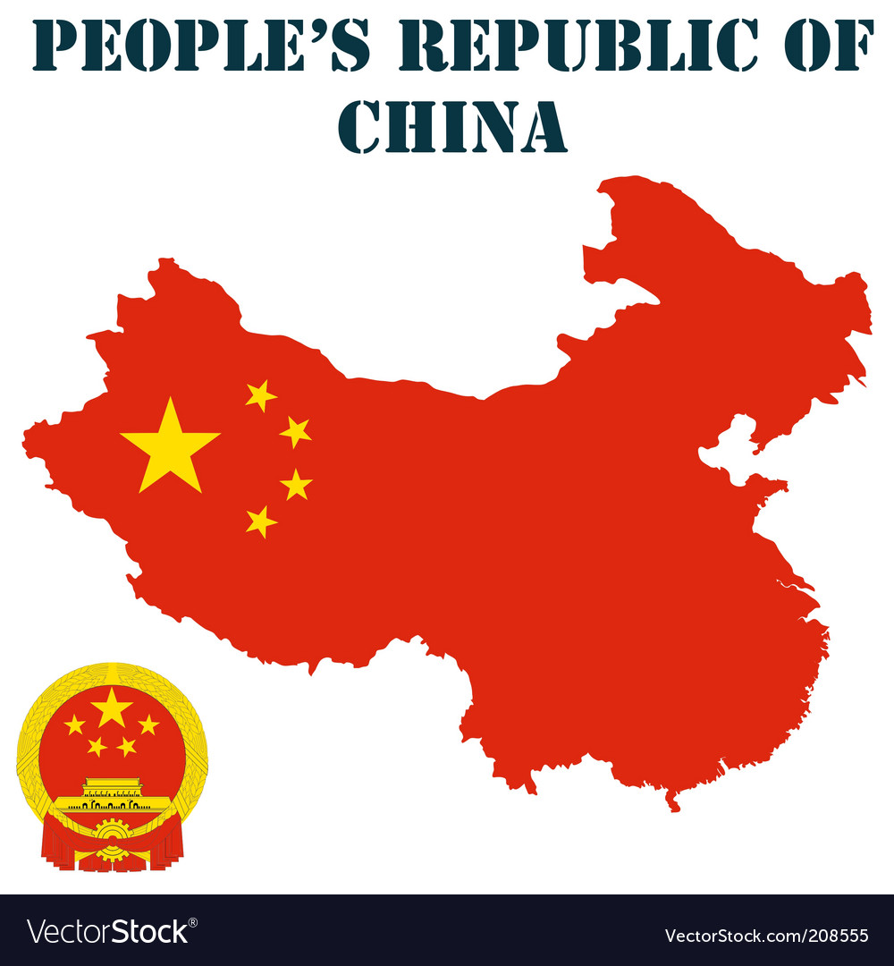 People's republic of china map vector | Price: 1 Credit (USD $1)
