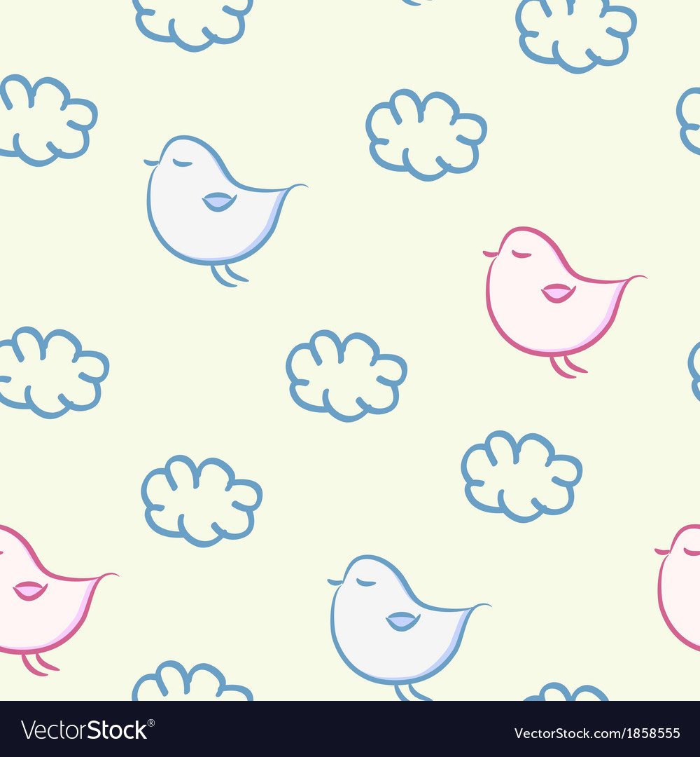 Seamless background with the image of a bird vector | Price: 1 Credit (USD $1)